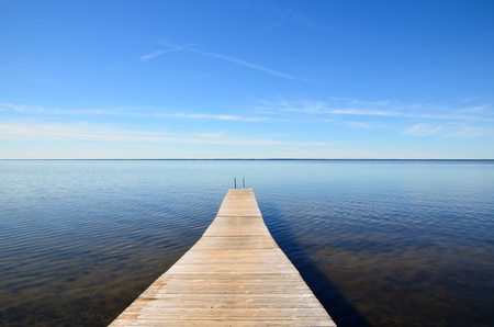 oland: Wooden jetty at the swedish island Oland in the Baltic sea