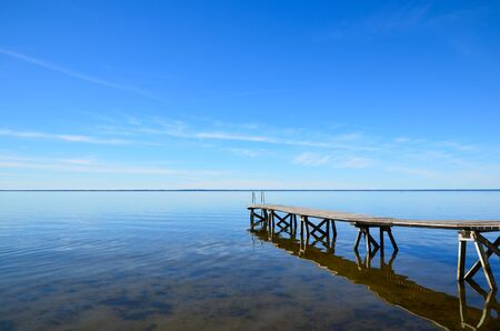 oland: A bath pier into the Baltic sea at the island Oland in Sweden