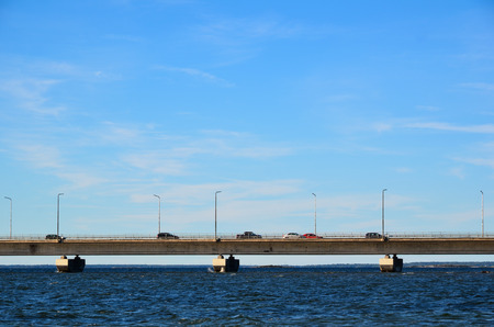 oland: Detail of the Oland bridge in Sweden