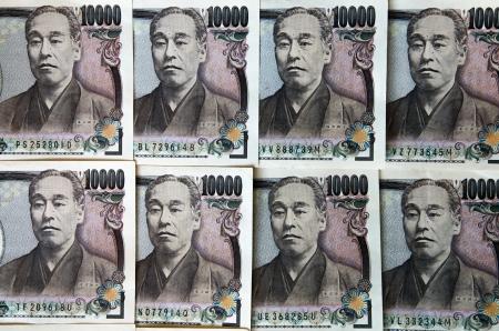 Background of japanese ten thousand yen notes photo