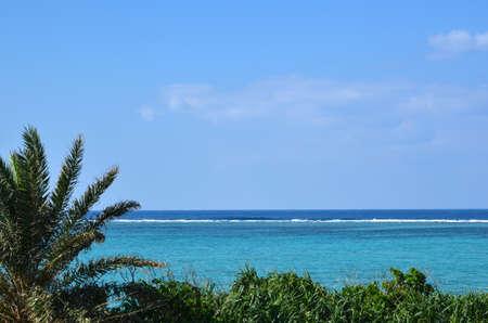 Tropical coast view at East China Sea in Okinawa, Japan Stock Photo