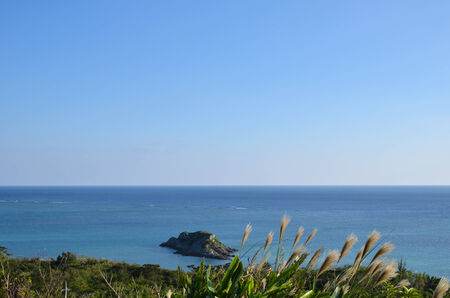 View from the observation point at  Cape Tamatori at the japanese tropical island Ishigaki