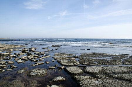oland: Flat and rocky coastline by the Baltic Sea at the swedish island Oland
