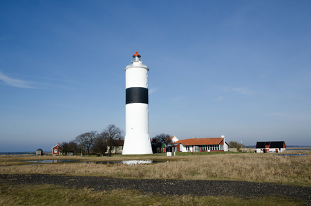 The lighthouse at Ottenby in Sweden, a famous birdwatching area photo