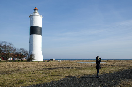 Birdwatching at the famous Ottenby lighthouse at the swedish island Oland photo