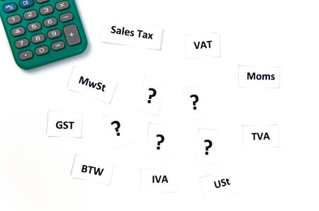 international sales: International sales taxes signs illustrates sales taxes difficulties