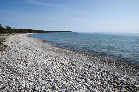 oland: Bright and stony bay at the Swedish island Oland