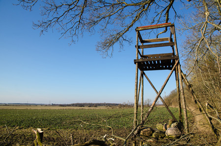 hunters tower: Hunting tower with great view over the fields at the swedish island Oland.