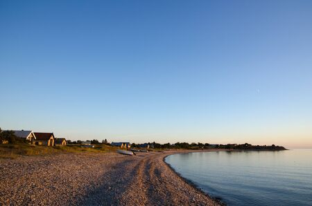 oland: Serene bay at twiligt at the swedish island Oland in the Baltic Sea. Stock Photo