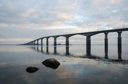 the mainland: The Oland bridge is connecting the Swedish mainland with the island Oland in the Baltic Sea