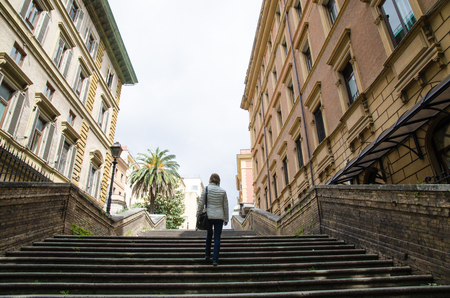 all in one: One of all the steps in Rome. This one by the street Via Veneto.
