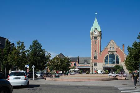 france station: Colmar, France - September 12, 2016: The railway station Gare de Colmar in the city Colmar in France