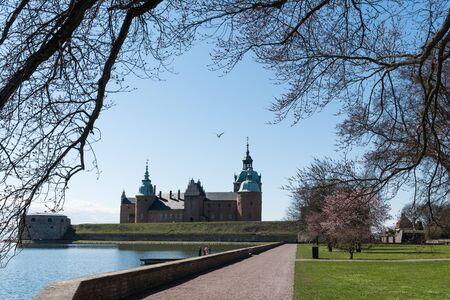 Springtime view at the medieval landmark Kalmar Castle in Sweden