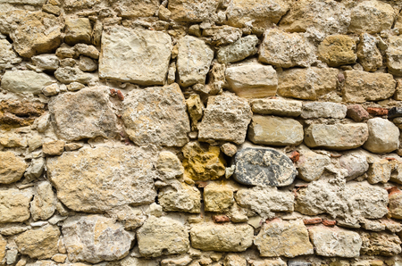 Background image from a wall at the old castle Sao Jorge in Lisbon, Portugal Stock Photo