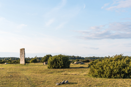 The ancient monument Tingstad flisor in the world heritage at the swedish island Oland