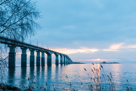 Dawn by The Oland Bridge - connecting the swedish island Oland in the Baltic Sea with mainland Sweden
