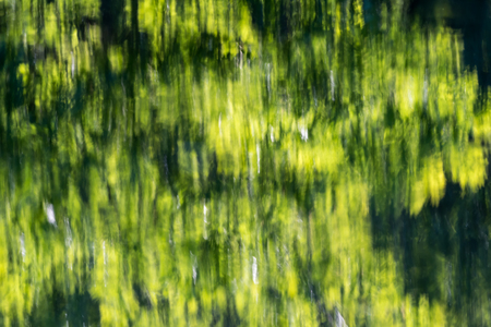 Background image with abstract green water reflections Stock Photo