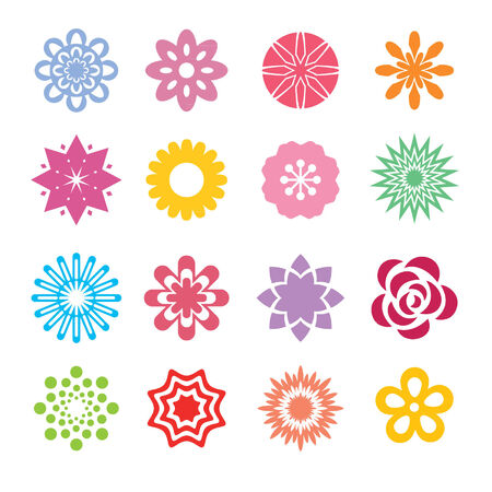 bordo: set of vector abstract flowers Illustration