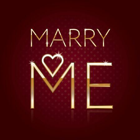 postcard design: Marry Me - card, poster, postcard elegant design