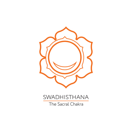 swadhisthana: Swadhisthana. Chakra vector isolated minimalistic icon