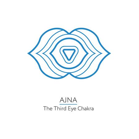 ajna: Ajna. Chakra vector isolated minimalistic icon Illustration
