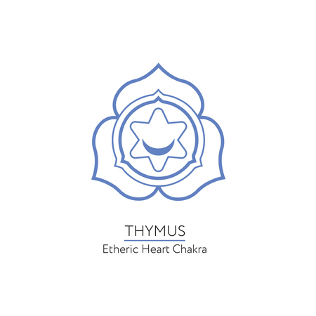 Thymus. Chakra vector isolated minimalistic icon