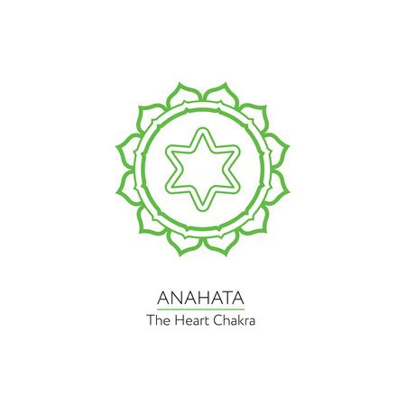 anahata: Anahata. Chakra vector isolated minimalistic icon