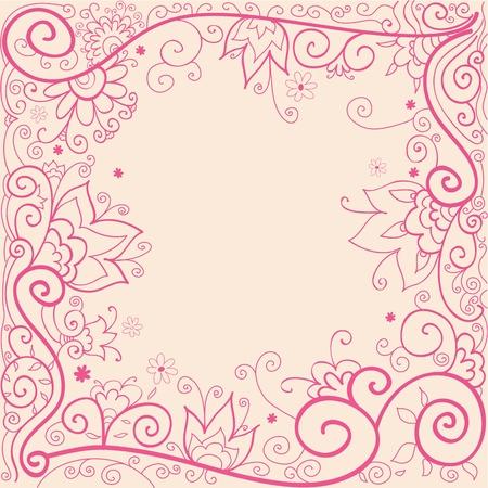 Vector handdrown illustration of floral background Stock Vector - 9254820