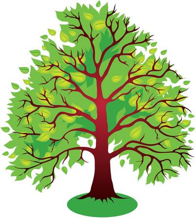 Vector illustrations of green leaves tree Stock Vector - 9931201