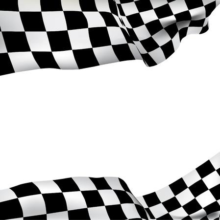 checker flag: Bandera a cuadros de vectores de fondo con espacio para el texto