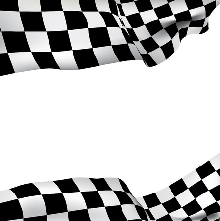one trim: Vector background checkered flag with space for your text
