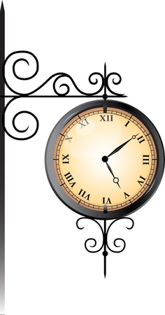 old time: Street clock