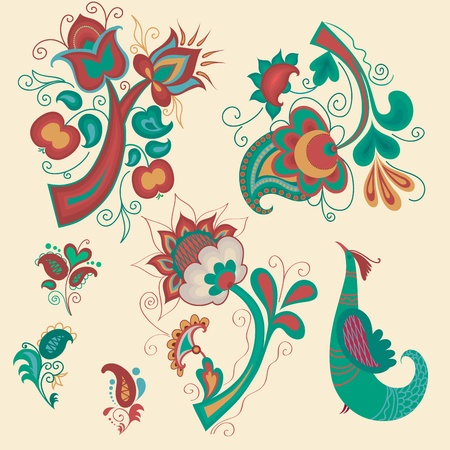slavic: Collection of Russian pattern elements for design