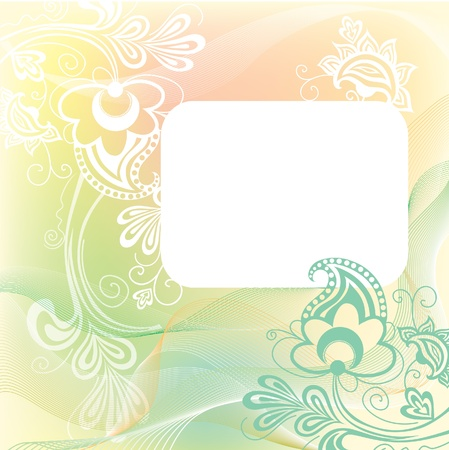 Patterned background in gentle tones and  space for your message inside Vector