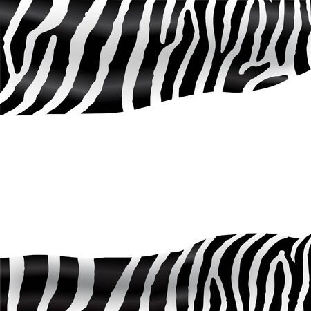 Background with zebra texture flag with  space for your text  inside