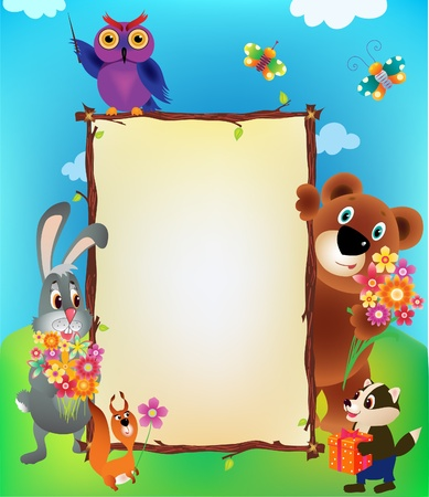 illustration animal frame Vector