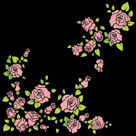 Background with decorative roses Vector