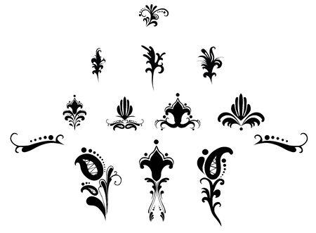 pattern floral elements for design Stock Vector - 12145450