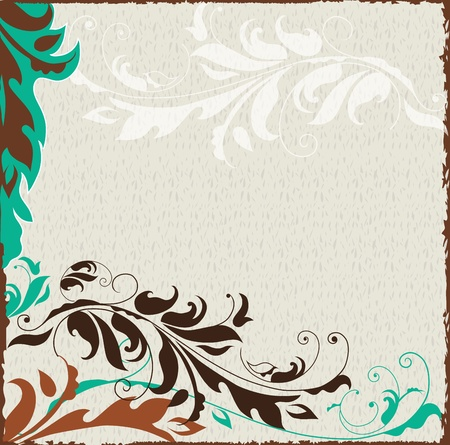 Abstract floral background with space for your text Vector