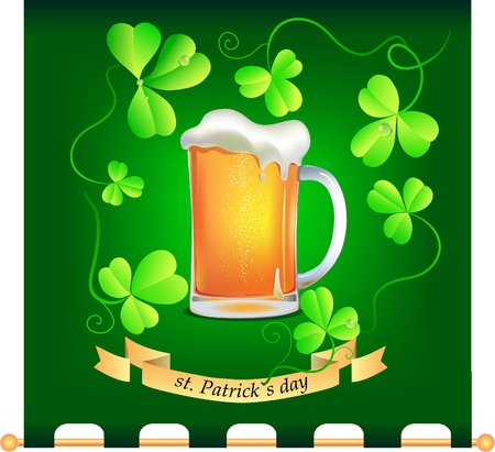 condense: Vector illustration banner with mug of beer