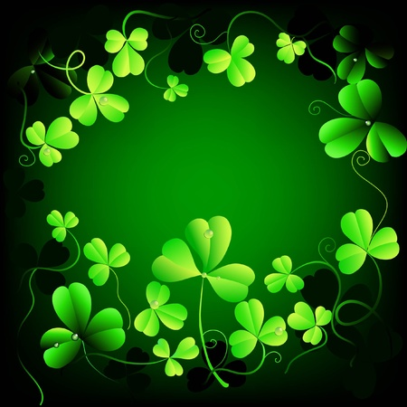 clover background with space for text Vector