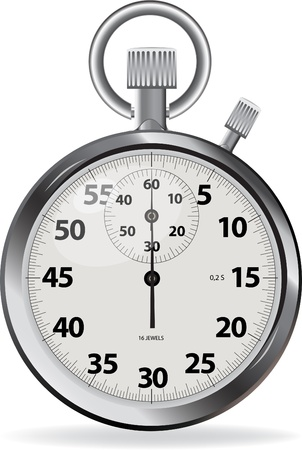metering: illustration of Stopwatch, isolated on white