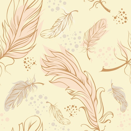 Seamless composition with feathers Stock Vector - 13291984