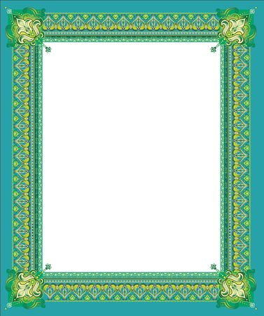 Luxury golden decorative frame with pronounced corners Stock Vector - 13787767