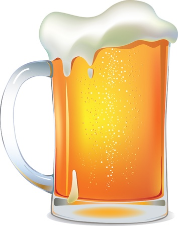 beer drinking: Light beer mug   Illustration