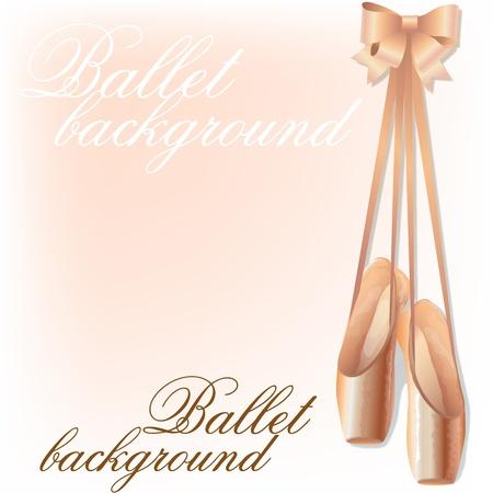 ballet clásico: Fondo con zapatillas de ballet y el espacio para el texto Vectores