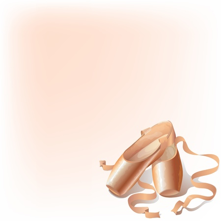 Background with ballet slippers and space for your text Vector