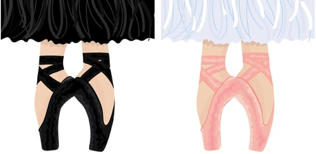 ballet slippers: Slippers Illustration