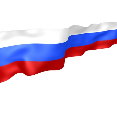 flagstaff: Flag of the Russian Federation  Generated from 3D, isolated on white