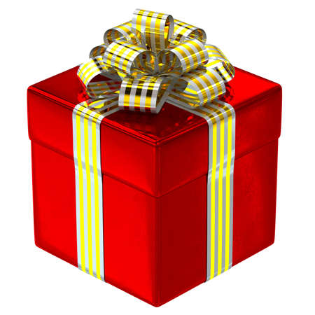 Red gift box isolated  3d generated Stock Photo - 14152354